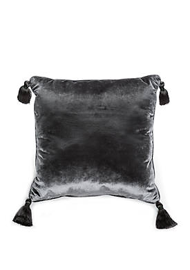 Intaglio Velvet Tassel Throw Pillow
