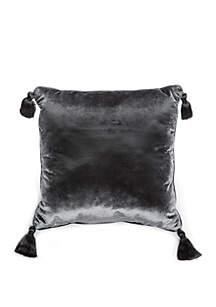 Intaglio Velvet Tassel Throw Pillow