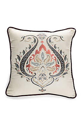 Intaglio Embroidered Throw Pillow
