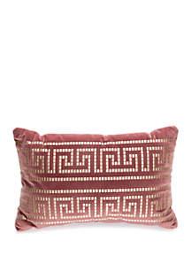 Intaglio Velvet Oblong Throw Pillow