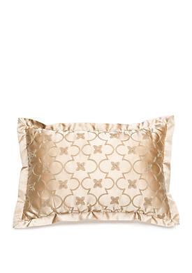 Amapola Ogee Embroidered Throw Pillow