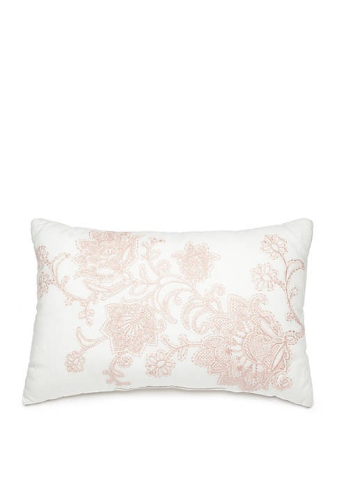 Biltmore® Haddon Embroidered Throw Pillow