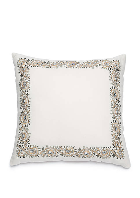 Biltmore® Grand Paisley Embroidered Throw Pillow