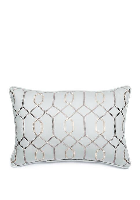 Grand Paisley Trellis Embroidered Throw Pillow