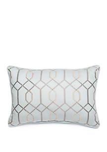 Biltmore® Grand Paisley Trellis Embroidered Throw Pillow