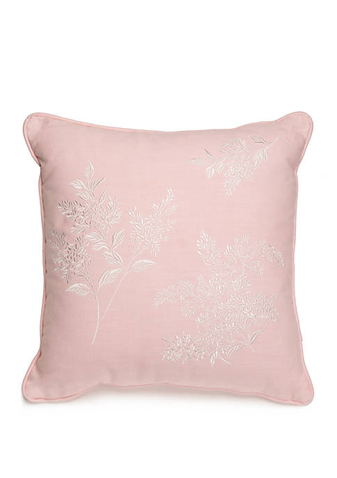 Tracery Embroidered Throw Pillow