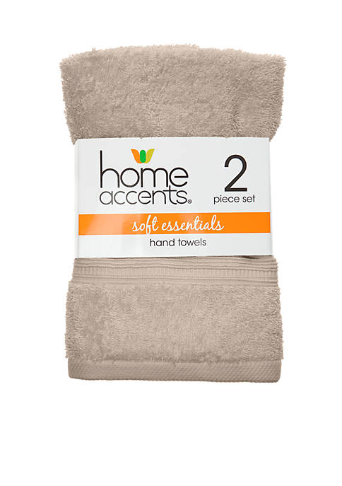 2-Set Home Accents Soft Essentials Hand Towel