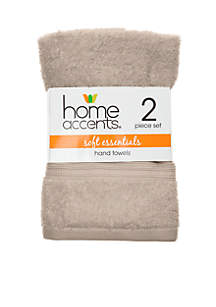 Home Accents® Soft Essentials Hand Towel - Set of 2