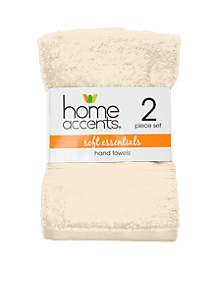 Home Accents® Soft Essentials Hand Towel - Set of 2