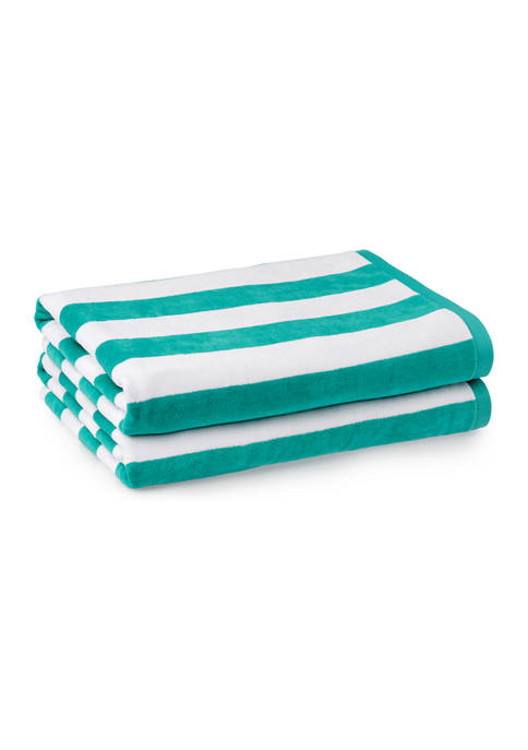 Martha Stewart Boardwalk Cabana Stripe Beach Towel