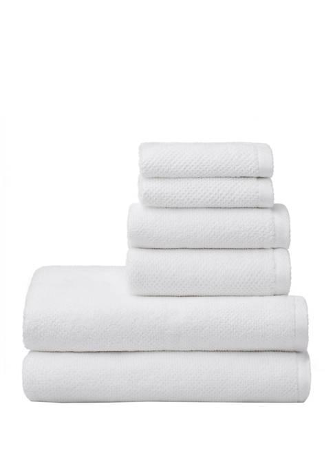 6 Piece Textured Franklin Towel Set