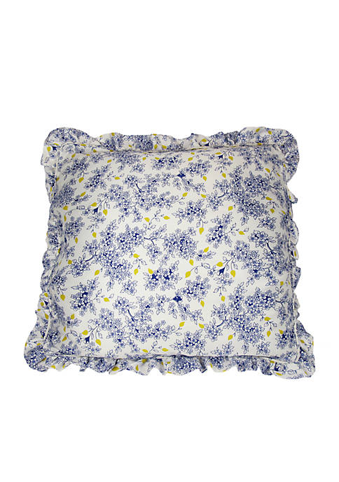 Garden Grove Blue Euro Sham 26-in. x 26-in.