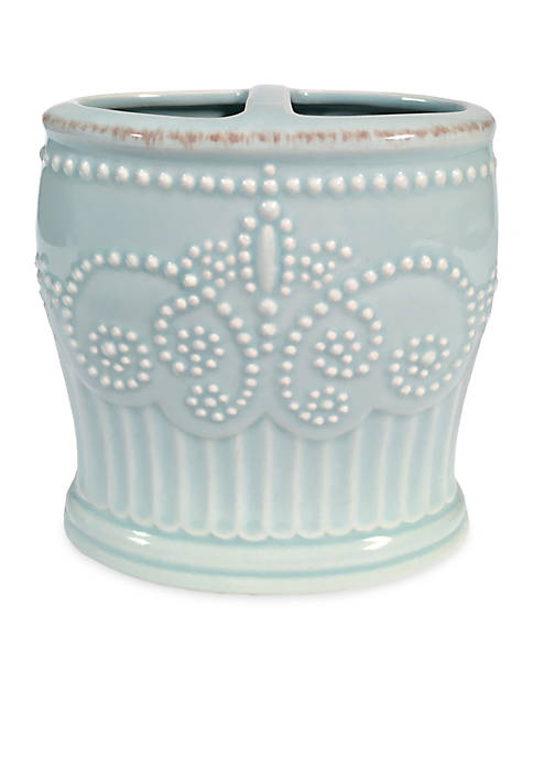 French Perle Groove Toothbrush Holder 2.25-in. x 5-in.