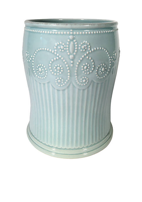 French Perle Groove Wastebasket 10-in. x 8-in.x 6.25-in.