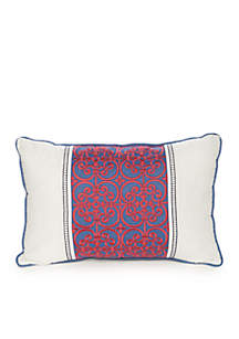 Casual Living Tully Pieced and Embroidered Decorative Pillow
