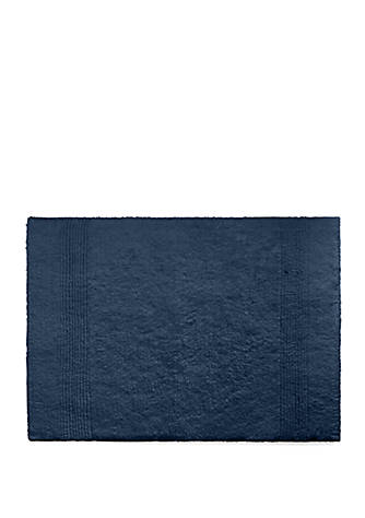 NAVY BLUE Bathroom Rugs Slip Resistant Extra Absorbent Soft /& Fluffy Striped Bat