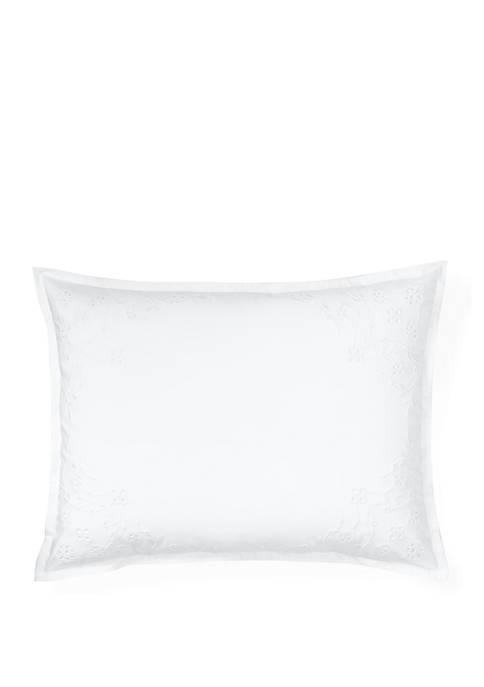Juliet Floral Eyelet Throw Pillow