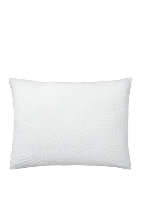 Lauren Ralph Lauren Corrine Leaf Embroidery Throw Pillow