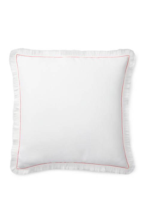 Maggie Ruffled Throw Pillow