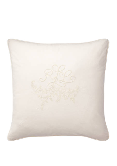 Lauren Ralph Lauren Claudia Monogram Throw Pillow