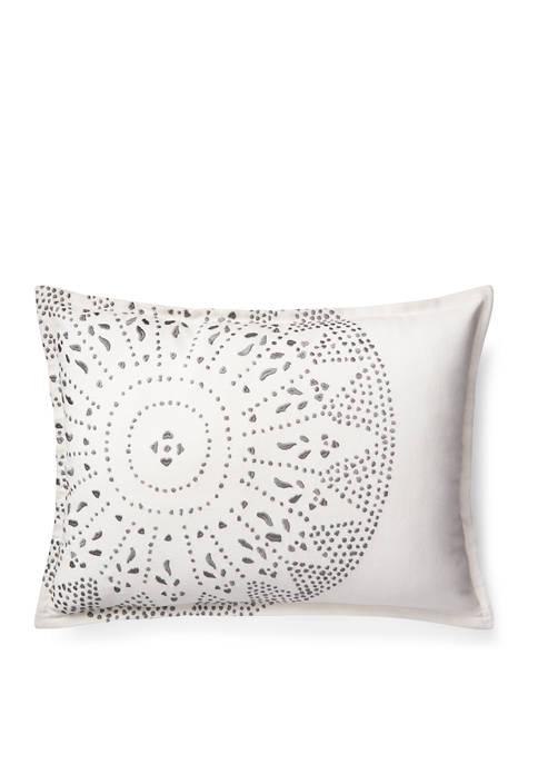 Luke Embroidery Throw Pillow