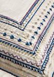 Estella Embroidered Throw Pillow
