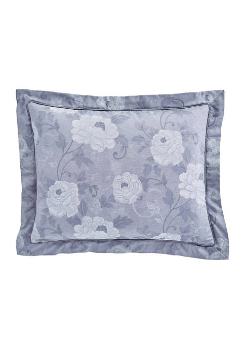 Charisma Amelia Blue Flower Decorative Pillow 11-in. x