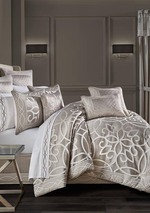 Deco Silver 4-Piece Comforter Set