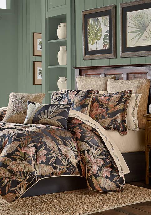J Queen New York Martinique Black 4-Piece Comforter