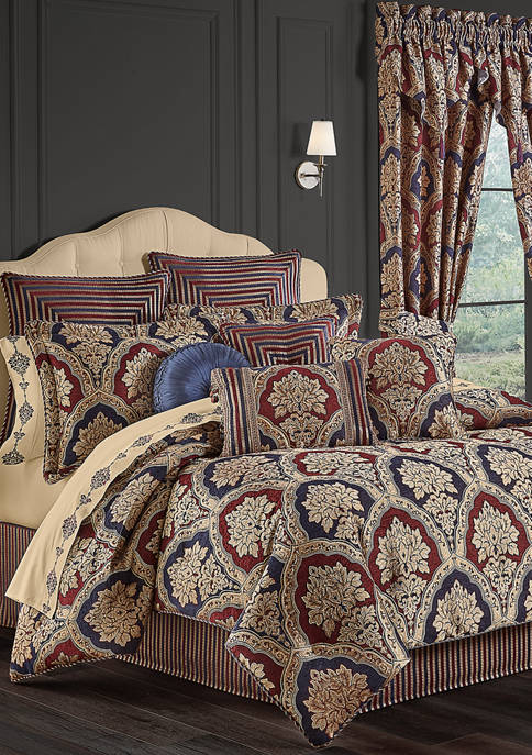 Five Queens Court 4 Piece Middleton Red California