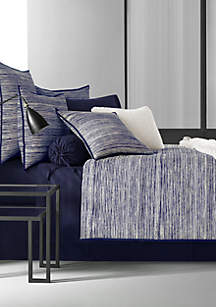 Oscar|Oliver Flen Indigo Luxury Cotton Printed Bedding