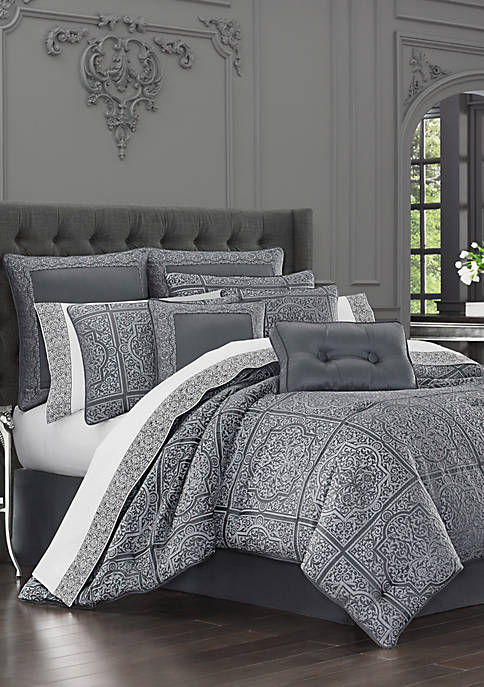J Queen New York Rigoletto Charcoal Comforter Set