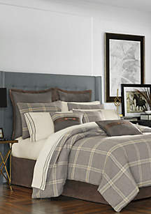 J Queen New York Jaspen Gray Comforter Set