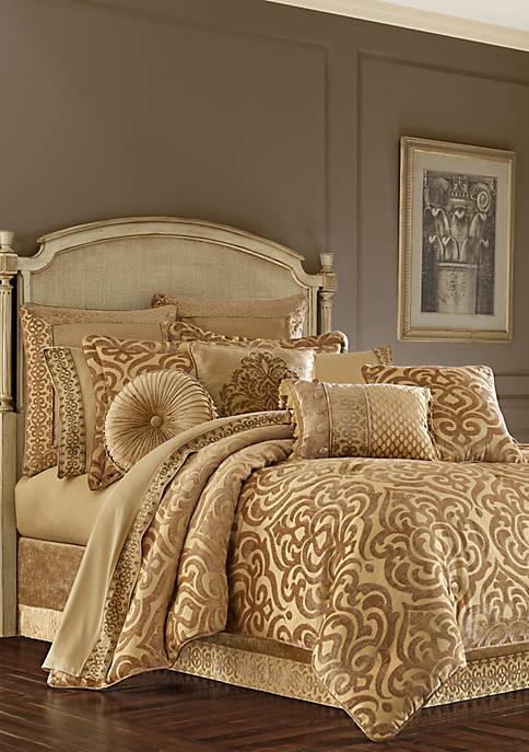 J Queen New York Sicily Gold Comforter Set