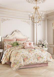 J Queen New York Floral Park Blush Comforter Set