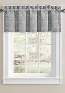 J Queen New York Khalini Window Silver Straight Valance