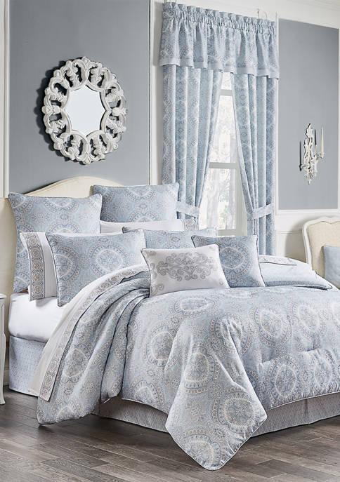 Royal Court Claremont Blue Comforter Set