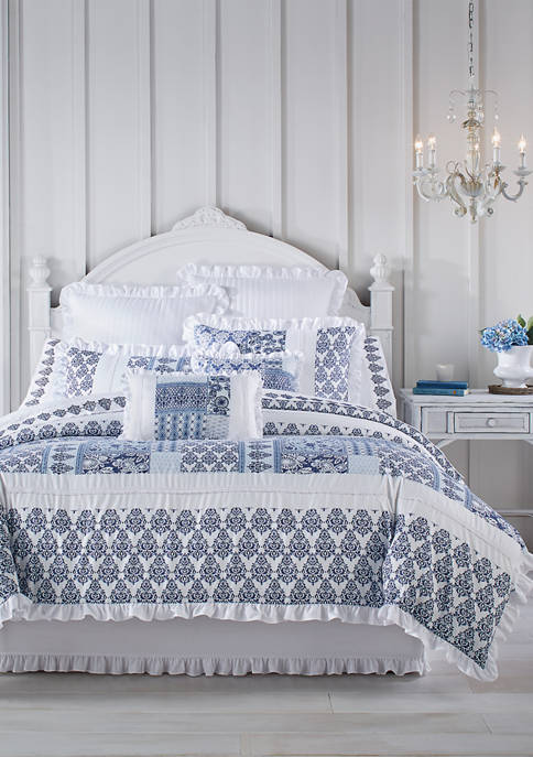 Royal Court Tessa Navy Comforter Set