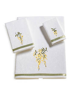J Queen New York Citron White Bath Towel Collection