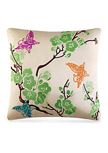 Carla Embroidered Decorative Pillow