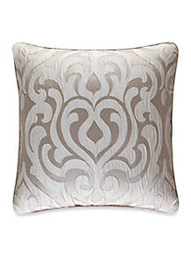 J Queen New York Astoria Damask Decorative Pillow