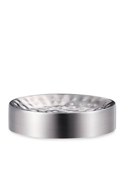 Pressed Metal Silver Soap Dish  1.25-in. X 4.75-in.