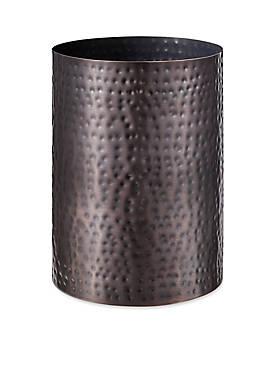 Pressed Metal Oil Rubbed Bronze Wastebasket