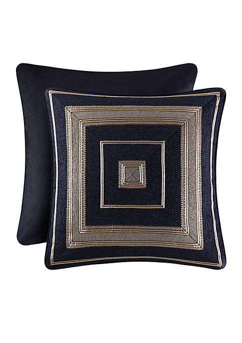 J Queen New York Bradshaw Square Decorative Pillow