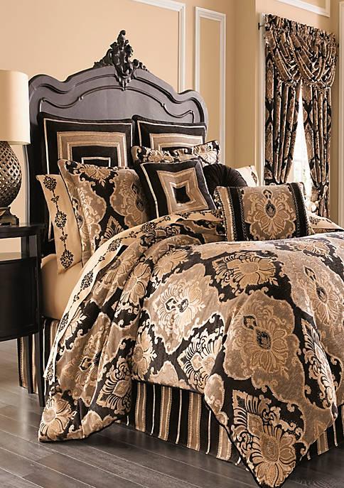 J Queen New York Bradshaw Black Comforter Set