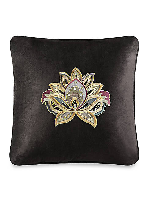 Decorative Square Embroidered Pillow 18-in. x 18-in.