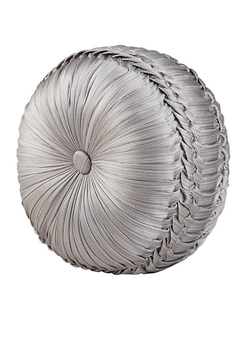 Tufted Round Decorative Pillow : J Queen New York Chandelier Tufted Round Decorative Pillow belk