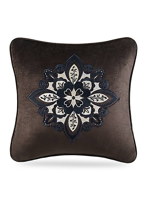 Paloma Square Embroidered Decorative Pillow