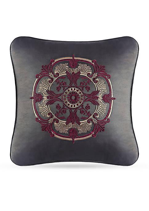 J Queen New York Bridgeport Embroidered Decorative Pillow