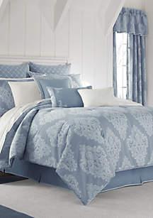 Ansonia Indigo Queen Comforter Set